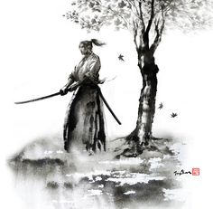 JUNGSHAN INK- illustration: Autumn moon