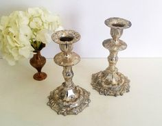 Vintage Silver Candlestick Holders  Set of 2 by CurrentClassic