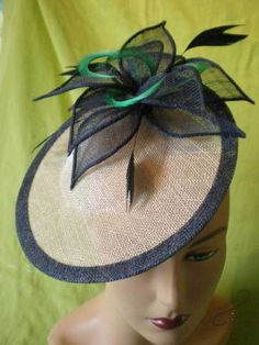 Pearl-Grey-and-Navy-saucer BY JAIN KIDSLEY #HatAcademy #millinery
