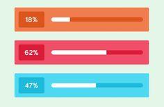 flat ui design percentage bar loading