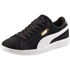 Puma Vikky SoftFoam Women's Sneakers (95 BGN) ❤ liked on Polyvore featuring shoes, sneakers, laced shoes, puma sneakers, traction shoes, lace up shoes and laced up shoes