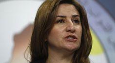"""Vian Dakhil, la femme la plus recherchée d'Irak pour avoir osé défier l'EI.  Les terroristes du groupe sèment la terreur parmi la communauté kurdophone des Yézidis, victime d'enlèvements, de viols et de persécutions. Une femme en Irak a osé s'élever contre ces massacres, ce qui fait d'elle une cible toute trouvée pour les djihadistes. """"J'ai reçu des avertissements des autorités pour me signaler que j'étais désormais la femme la plus recherchée en Irak par l'EI"""", rapporte-t-elle. #VianDakhil"""