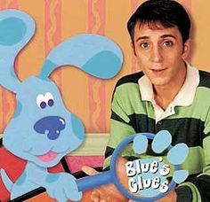Blue's Clues I loved this show when I was younger! I had a blow up red chair that had a paw print on the side that said stuff about blues clues! Childhood Memories 90s, Childhood Tv Shows, Childhood Movies, Old Kids Shows, Kids Tv Shows 2000, Mejores Series Tv, Blues Clues, 90s Cartoons, 90s Nostalgia