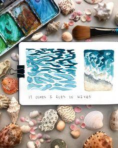 aquarelle water painting study in my sketchbook Moleskine Sketchbook, Sketchbooks, Art Journal Pages, Art Journals, Study, Water, Painting, Gripe Water, Studio