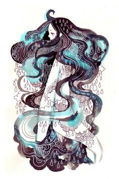 Les cheveux nuageux