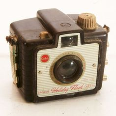 Vintage Box Camera Kodak Brownie Holiday Flash 127 by BrassLens, $12.00