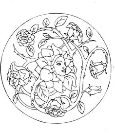Its Like The Rose From Little Prince Beautiful Mandala Coloring Pages