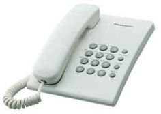 Descripción.  Teléfono Panasonic alámbrico de escritorio o pared KX-TS500 de una sola línea, análogo, resistente a uso comercial, Ideal para oficina.  Contenido   Teléfono Panasonic KX-TS500  Cordón base - auricular