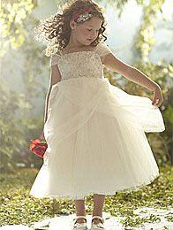 Disney's Fairy Tale Weddings by Alfred Angelo Belle flower girl dress, Style 700 #wedding #flower #girl