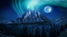 Free Image on Pixabay - Mountain, Aurora, Moon, Night Photo Café, Green Screen Backgrounds, Mood Wallpaper, Wallpaper Gallery, Nature Wallpaper, Iphone Wallpaper, Light Images, Fade To Black, Wallpaper Free Download