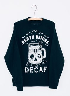 Death Before Decaf Coffee Unisex Adults Mens by PyknicOfficial