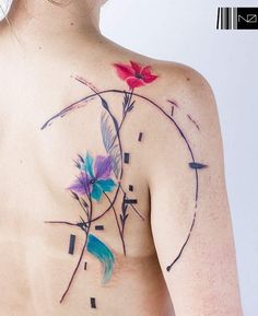 """Composición 12"" For Constanza ♡ #kizun #tattoo #ink #argentina #design #art #flowers #paint #brushstrokes #paintingtattoo #acrilicpainting #tattrx #equilattera #tattooartistmagazine #tattoo2me #tattoaria #kizunexperience #tattooersubmission"