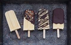 Vanilla Pudding Pops with Homemade Magic Shell | DeliciouslyOrganic.net