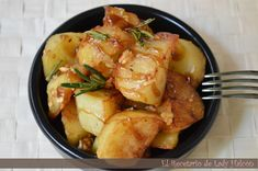 El Recetario de Lady Halcon: Tapa de patatas al ajillo con vinagre balsámico al Pedro Ximénez