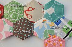 Hexagon Piecing by texas freckles   Melanie, via Flickr