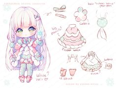 [+Video] Commission - Cuppycakiie by Hyanna-Natsu on DeviantArt Kawaii Anime, Cute Anime Chibi, Kawaii Chibi, Kawaii Art, Kawaii Drawings, Cute Drawings, Hyanna Natsu, Chibi Hair, Dibujos Cute