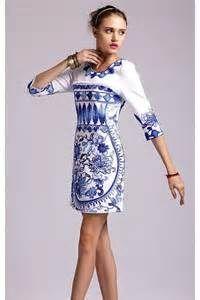Blue Porcelain Shift Dress