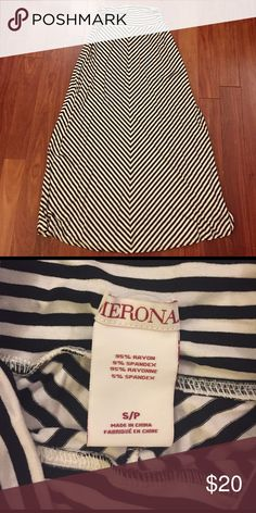 Black and white maxi skirt Never worn. No rips, holes or stains Merona Skirts Maxi