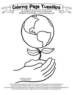 dulemba coloring page tuesday earth day