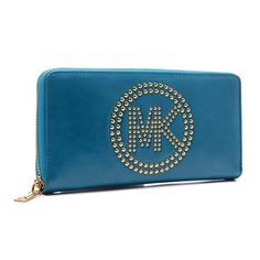 Cheap Michael Kors Fulton Stud Logo Large Blue Wallets Not Only Has High Quality But Also Fashionable And Unique Style.Come To Buy One. #Michael Kors
