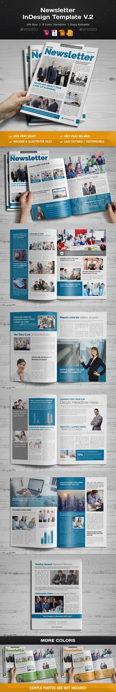 Newsletter Template Vector EPS, InDesign INDD, AI Illustrator. Download here: http://graphicriver.net/item/newsletter-indesign-template-v2/15344651?ref=ksioks