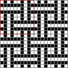 Wayuu Mochila Ravelry: filet basket weave pattern by Taith Nanethcan Seed Bead Patterns, Weaving Patterns, Mosaic Patterns, Cross Stitch Patterns, Knitting Charts, Knitting Stitches, Knitting Patterns, Basket Weave Crochet, Basket Weaving