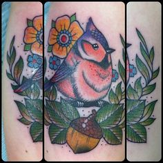 finished adorable bird by Guen Douglas