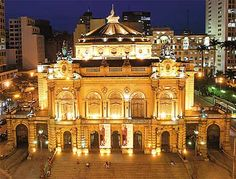 This is the Theater of the city of São Paulo, Brazil.