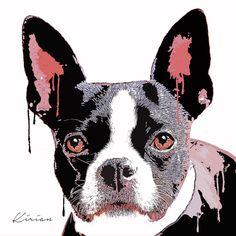 A personal favorite from my Etsy shop https://www.etsy.com/listing/244458751/custom-boston-terrier-dog-pop-art