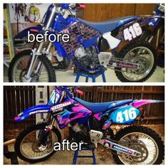 What a facelift can do to your bike. Check out decal works!!