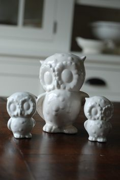 handmade modern  vintage mama owl/babies by 2chicksandafancyowl, $26.00