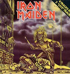"Iron Maiden Sanctuary - 1st Uncensored 1980 Dutch 12"" vinyl 1AK052Z-07390: IRON MAIDEN Sanctuary (Rare 1980 Dutch-only first issue 4-track…"
