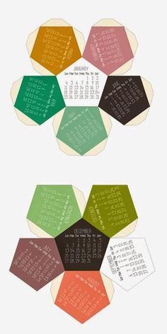 Cómo hacer un calendario en forma geométrica