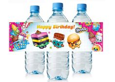 Shopkins Birthday Water labels $3.99 available at www.partyexpressinvitations.com