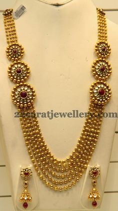 Jewellery Designs: Gundla Haram with Round Motifs