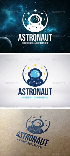 Astronaut Logo Template  #GraphicRiver         - Three color version: color, greyscale and single color.