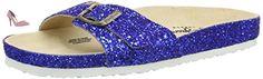 Pepe Jeans  OBAN GLITER, Sandales Bout ouvert femme - Bleu - Blau (580SAILOR), 41 - Chaussures pepe jeans (*Partner-Link)