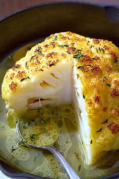 Whole Roasted Cauliflower With Butter Sauce by eatwell101: Crisp on the outside…