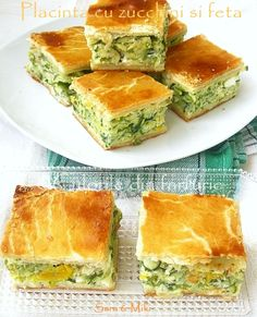zucchini and feta pie Avocado Salad Recipes, Yogurt Recipes, Festive Bread, Healthy Cooking, Cooking Recipes, Good Food, Yummy Food, Sweet Pastries, Specialty Cakes