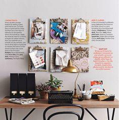 Desk idea using clip boards