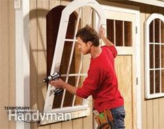 how to's for back yard shed--do it the easy way