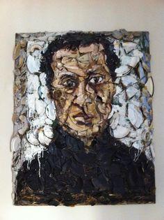 Azzedine Alaja in a portrait of Julian Schnabel @Hotel Carducci76'd lounge