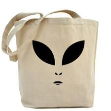 Alien Face Tote Bag #Bag #Alien #Extraterrestrial #RoswellNM