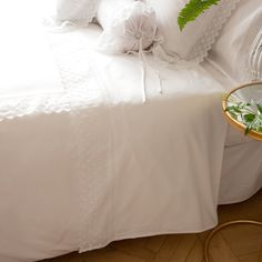 FLORAL EMBROIDERED PERCALE BEDDING - Bedding - Bedroom | Zara Home United States of America