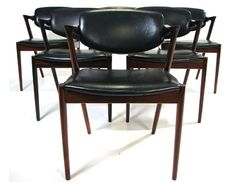 Kai Kristiansen Rosewood Dining Chairs Model No. 42