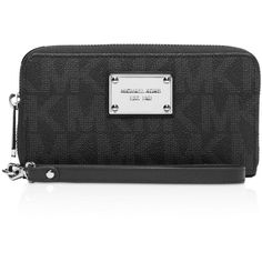 Michael Michael Kors Large Coin Multi-Functional Smartphone Wristlet ($98) ❤ liked on Polyvore featuring accessories, tech accessories, black, michael michael kors wristlet, wristlet smartphone, smart phone wristlet, michael michael kors and smartphone wristlet