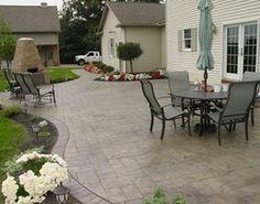 Stamped concrete/ Cornerstone Concrete Designs