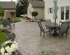 Stamped concrete/ Cornerstone Concrete Designs