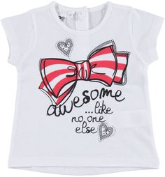 T-shirt with hearts and bow illuminated by strass crystals, girl, 6 - 36 months, iDO - T-shirts, polo & shirts for Girl from 0 to 16 years old - iDO