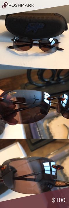 92925d5b426a Maui Jim Sandy Beach Polarized Rimless sunglasses Great for sports and  outdoor activities. Brown Maui